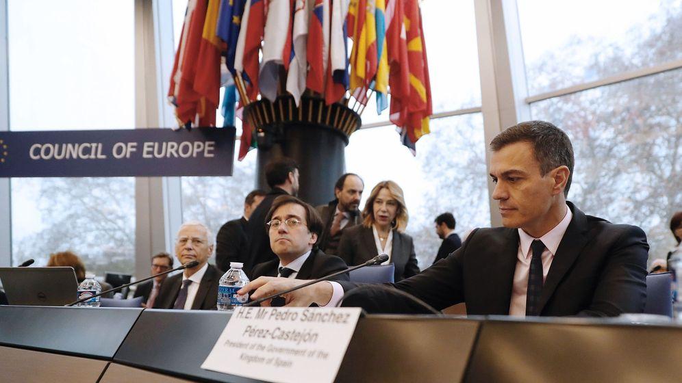 Foto: Visita oficial de Pedro Sánchez al Consejo de Europa. (EFE)
