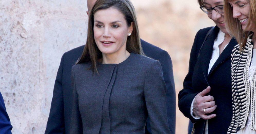 Foto: La Reina en San Millán de la Cogolla. (Gtres)
