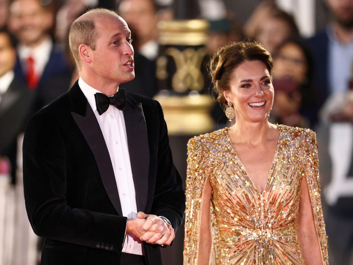 Foto: Kate Middleton y el príncipe Guillermo, durante el estreno. (Reuters)