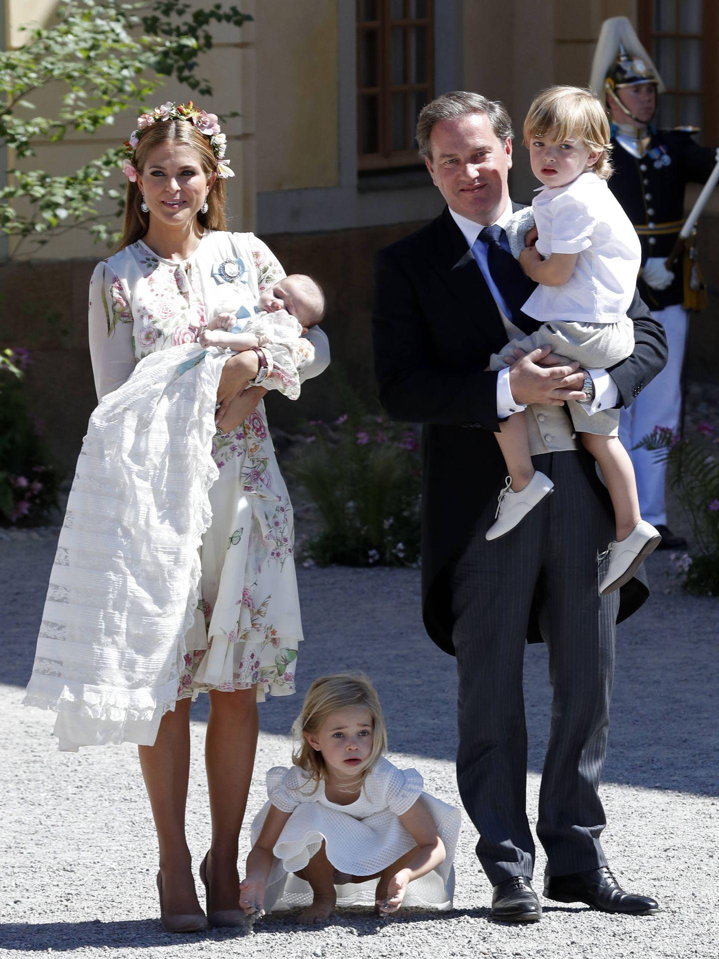 Magdalena de Suecia con la familia al completo. (Getty)