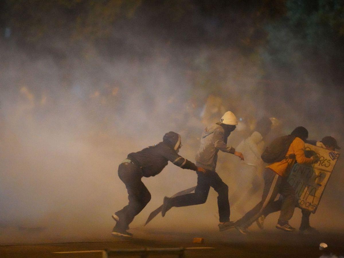 Foto: Protestas en Bogotá. (Reuters)