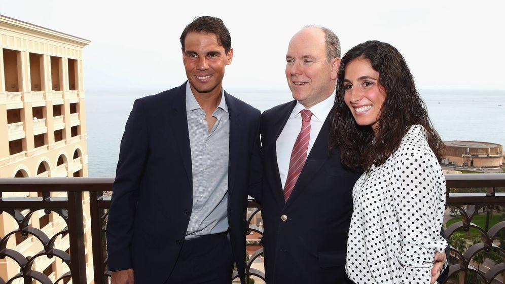 Foto: Rafa Nadal, Xisca Perelló y Alberto de Mónaco. (Getty)