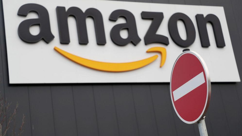 Foto: Logo de Amazon. (Efe)