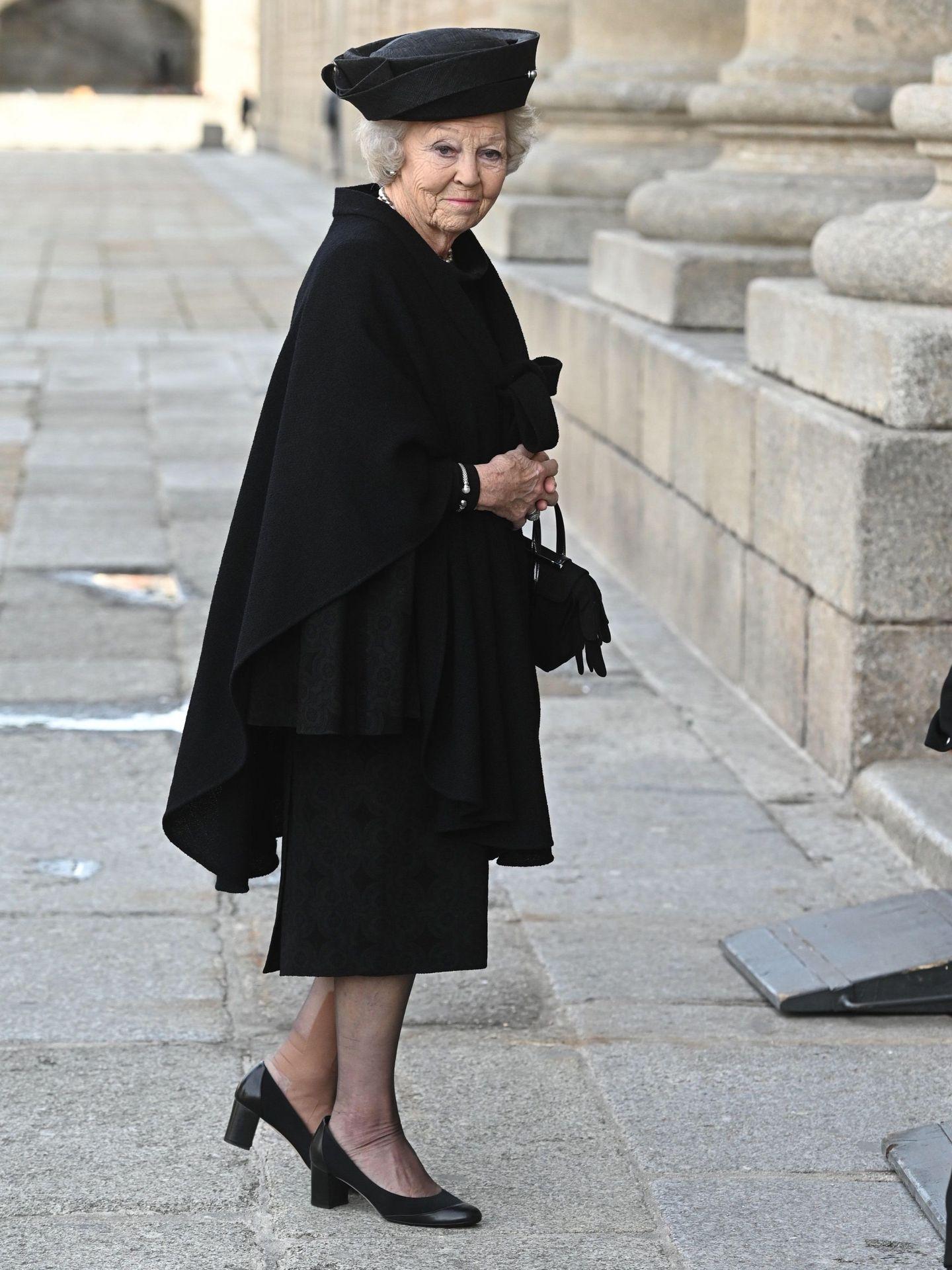La princesa Beatriz, este miércoles, en el funeral de la infanta Pilar. (EFE)