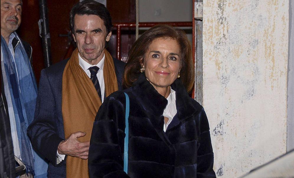 Foto: Los Aznar, a la salida del concierto. (Gtres)