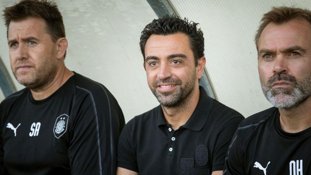 Foto: Xavi Hernández, en su primer partido como entrenador del Al Sadd. (EFE)