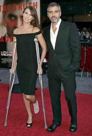 George Clooney se pelea con un modelo italiano