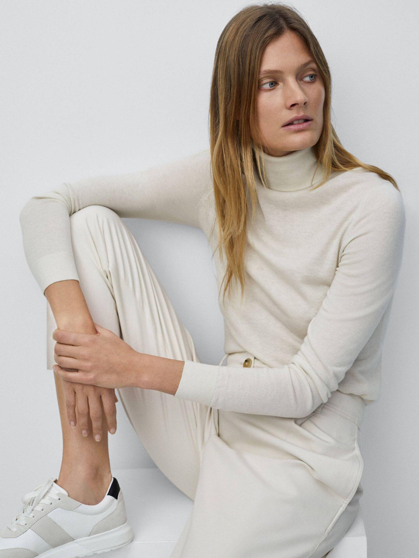 Jersey de lana y seda de Massimo Dutti. (Cortesía)
