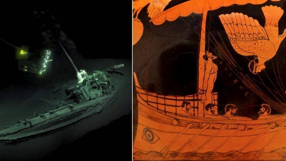 Foto: El barco encontrado es idéntico al de la escena de Ulises y las sirenas