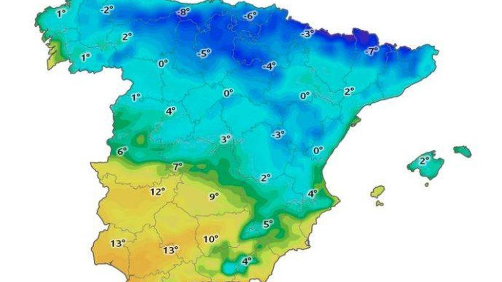 Foto: Así lucirá la Península en unas horas. (Eltiempo.es)