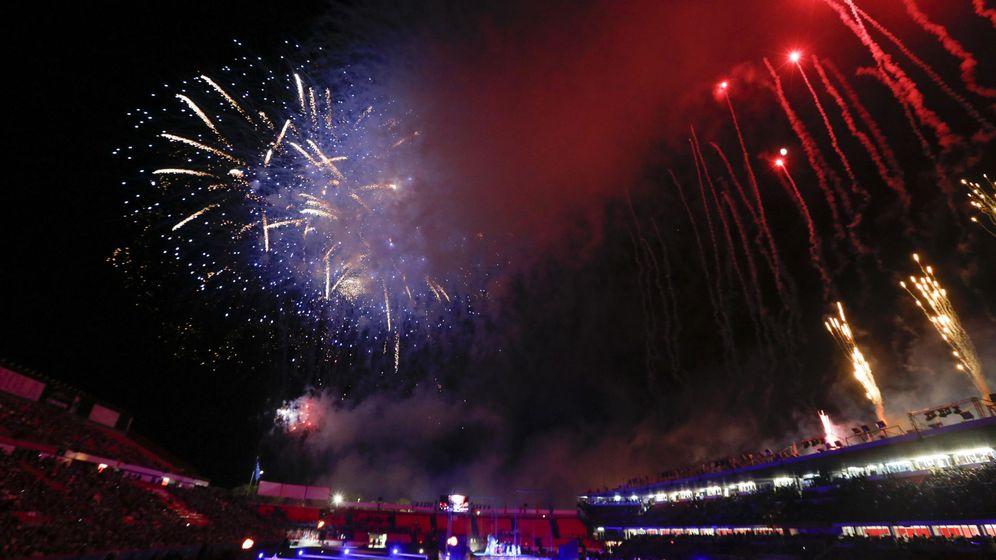 Foto: La ceremonia de inauguración de los XVIII Juegos Mediterráneos Tarragona 2018. (EFE)