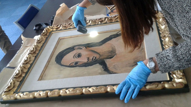 El Picasso 'Cabeza de mujer joven', comprado por Jaime Botín en 1977. (EFE)