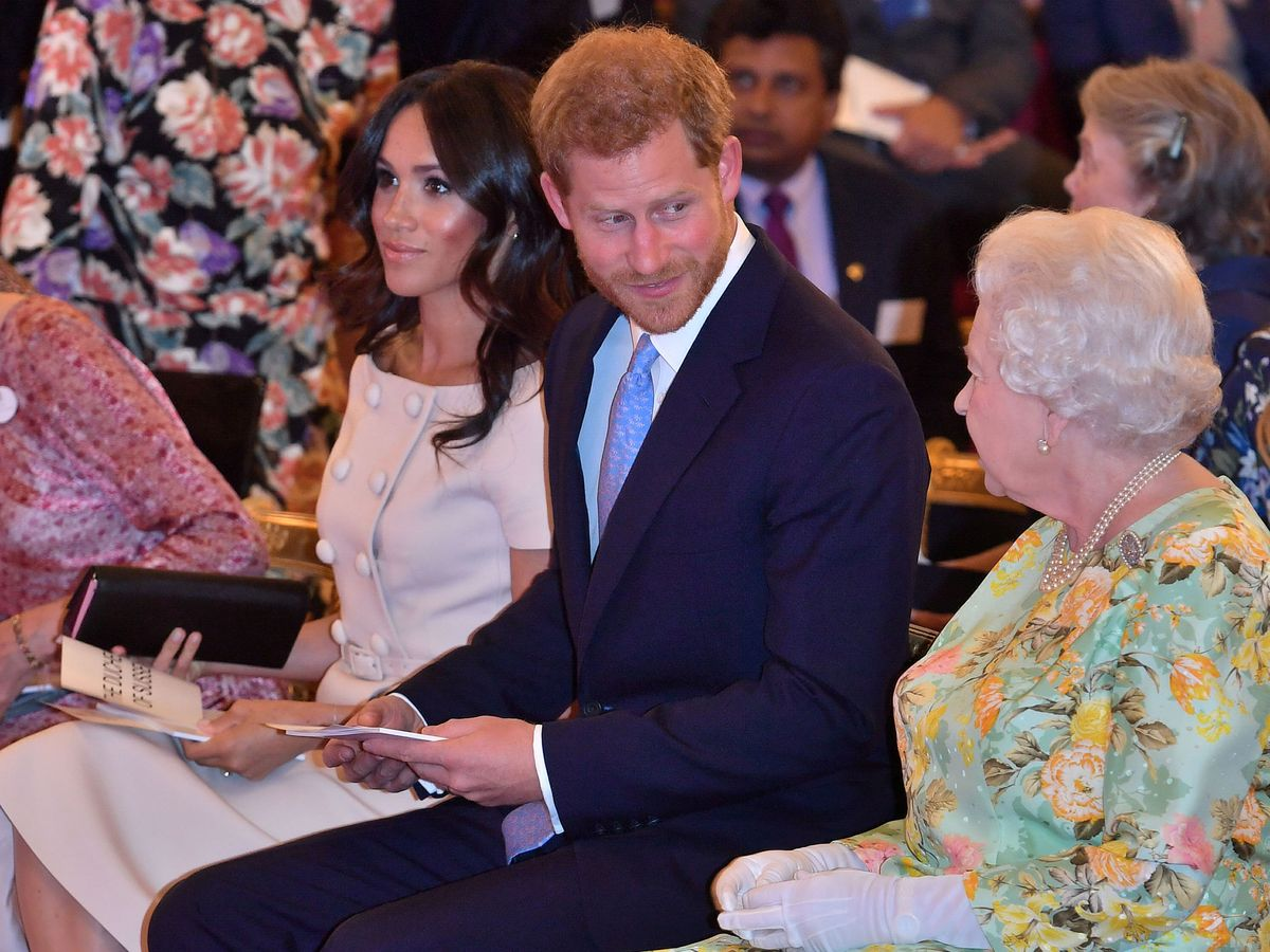 Foto: Los duques de Sussex con la reina en una imagen de archivo (Reuters)