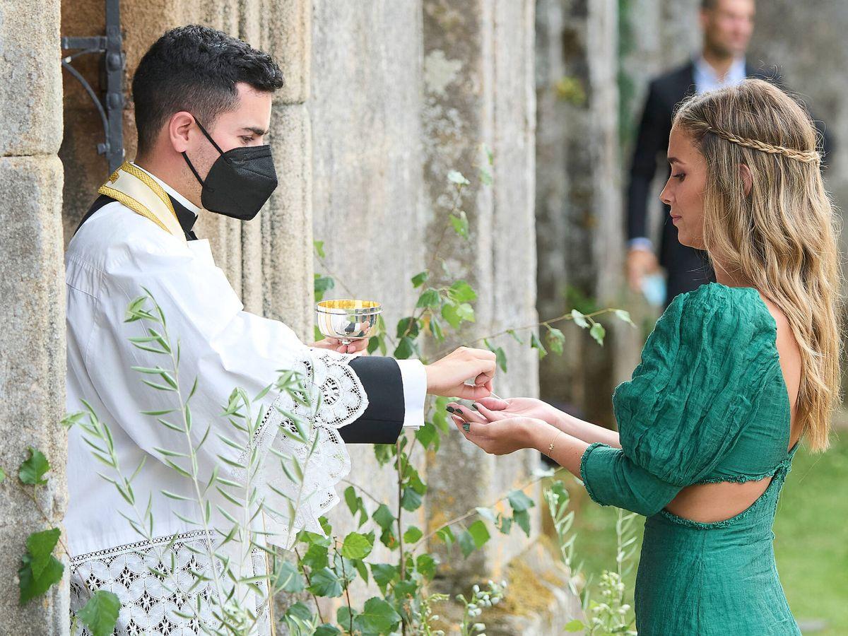 Foto: María Pombo, en la boda de Lucía Bárcena. (LP)