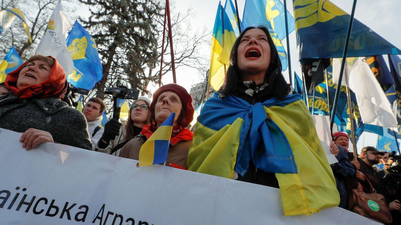 Manifestaciones en Ucrania. (Reuters)