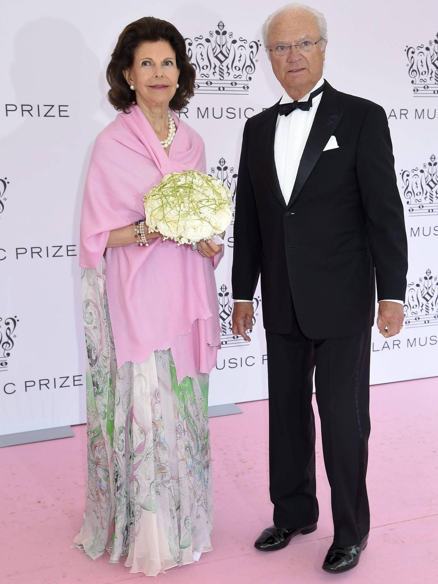 Silvia y Carlos Gustavo de Suecia en el Polar Music Prize. (Cordon Press)