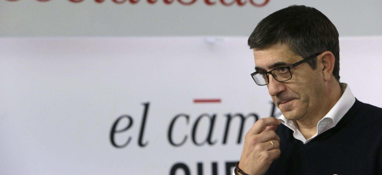 Patxi López, en rueda de prensa en Ferraz el pasado 19 de octubre. (EFE)