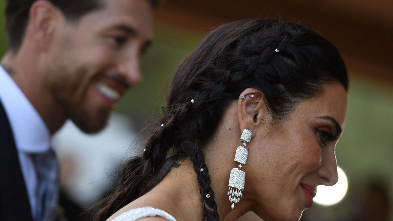 Sergio Ramos y Pilar Rubio en una imagen de la boda. (Cordon Press)