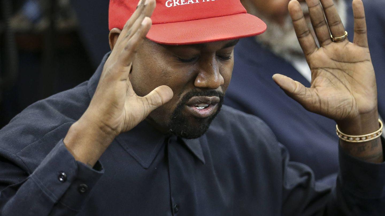 Kanye West, durante un encuentro con Trump. (Getty)