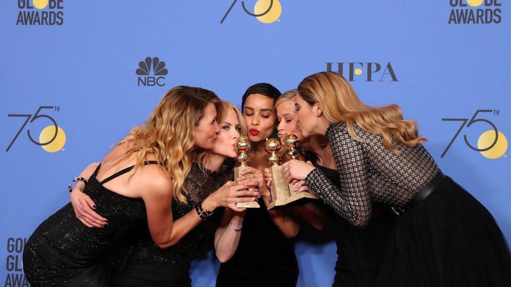 Foto: Laura Dern, Nicole Kidman, Zoe Kravitz, Reese Witherspoon y Shailene Woodley, actrices de 'Big Little Lies', una de las series triunfadoras. (Reuters)