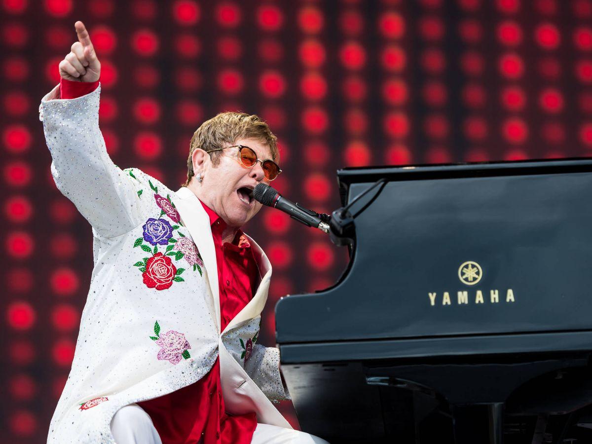 Foto: Elton John, live. (Getty)