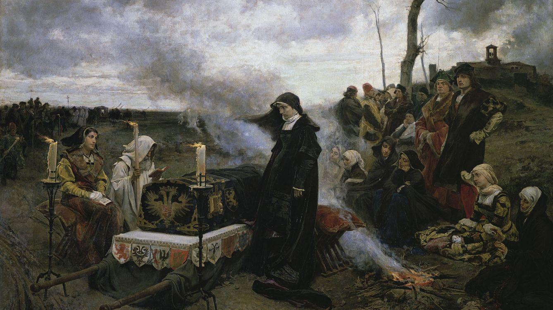 Foto: Francisco Pradilla imaginó a Juana de esta manera en 1877.