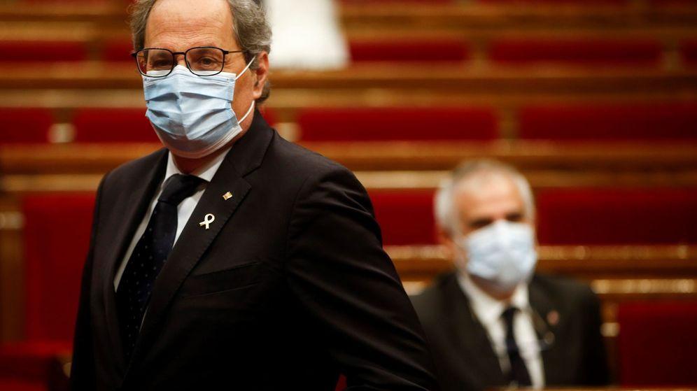 Foto: El presidente de la Generalitat, Quim Torra, en el Parlament. (EFE)