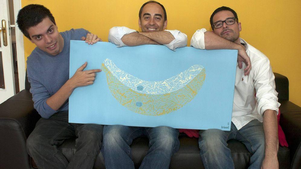 Foto: Los cofundadores de Bananity: Pau Garcia-Milà, Albert Martí y Sergio Galiano. (imagen: cedida por Albert Martí)