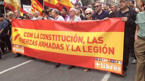 Del general Piñar al cuñado de Trías: 'manifa' en Barcelona por la Legión