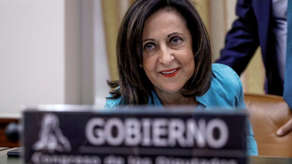 Foto: La ministra de Defensa, Margarita Robles, durante su comparecencia en la comisión de Defensa. (EFE)