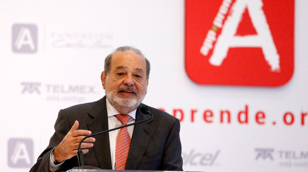 Foto: Carlos Slim, en una conferencia en México. (EFE)