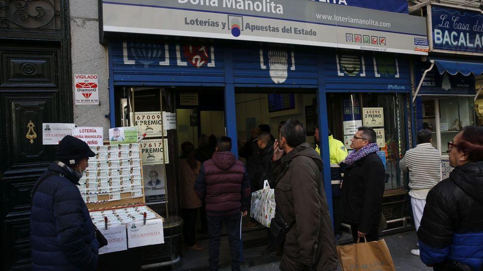 Foto: La administración de lotería Doña Manolita, en Madrid (EFE)
