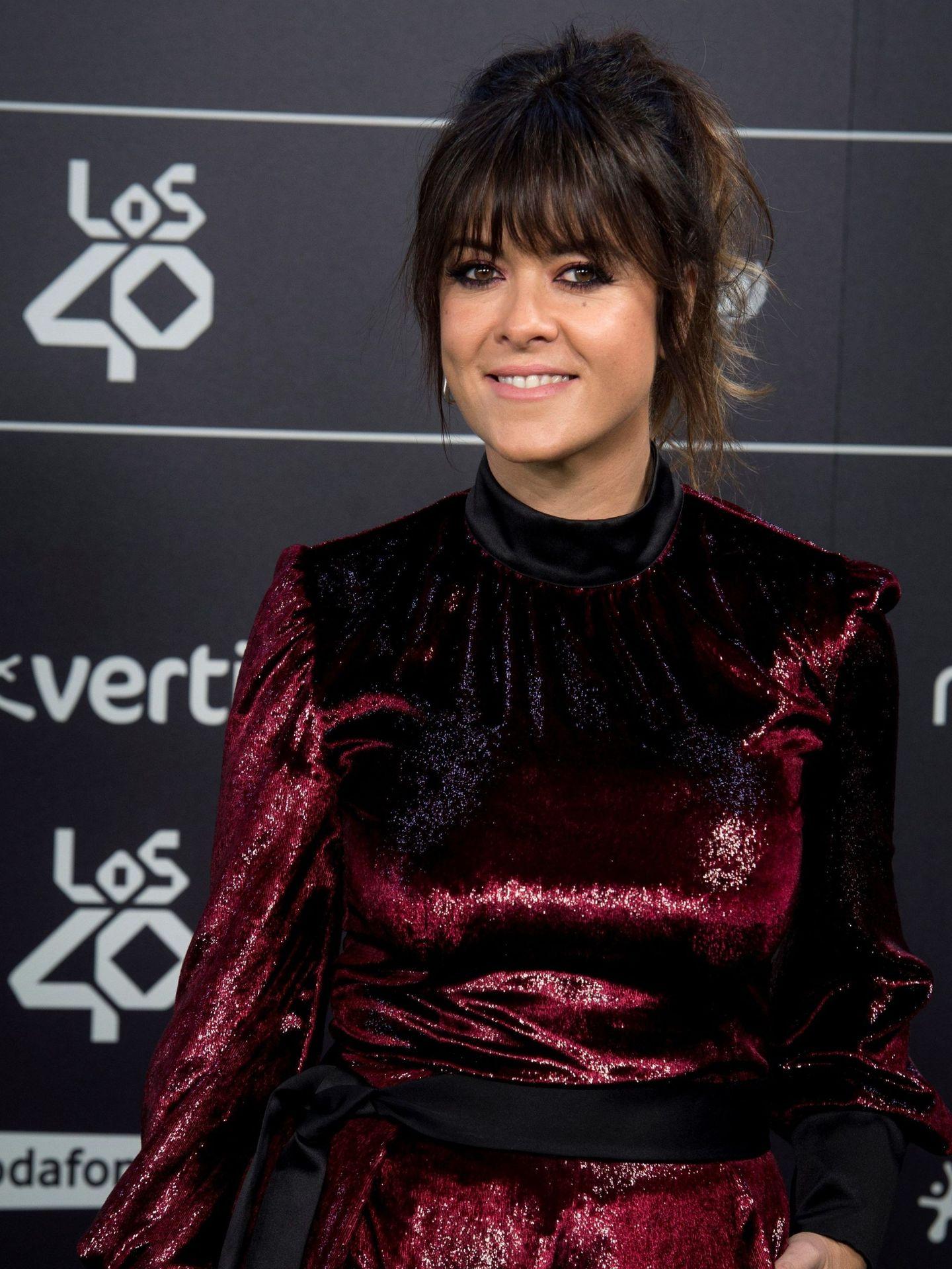 La cantante, a su llegada a los 40 Music Awards. (EFE)