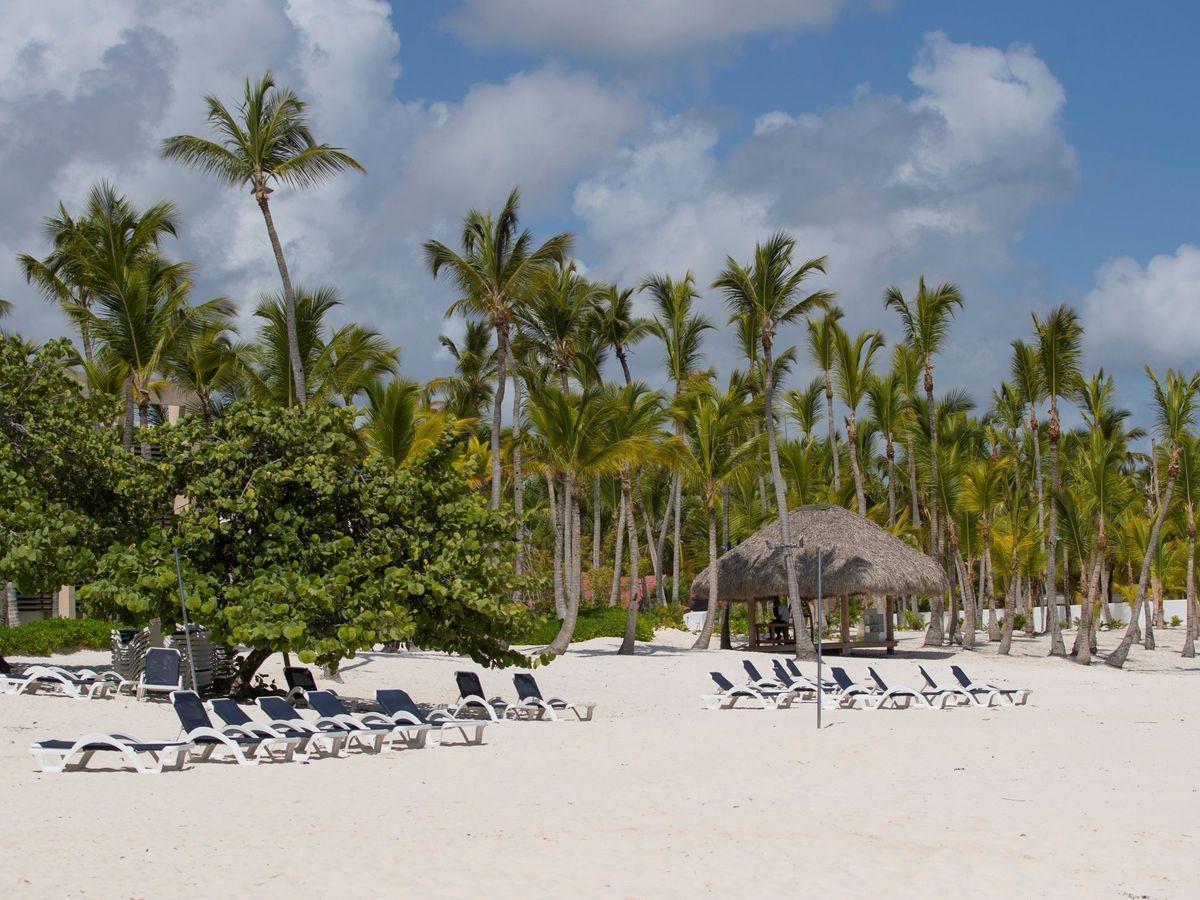 Foto:  Vista de una playa vacía en Punta Cana (República Dominicana). (EFE)