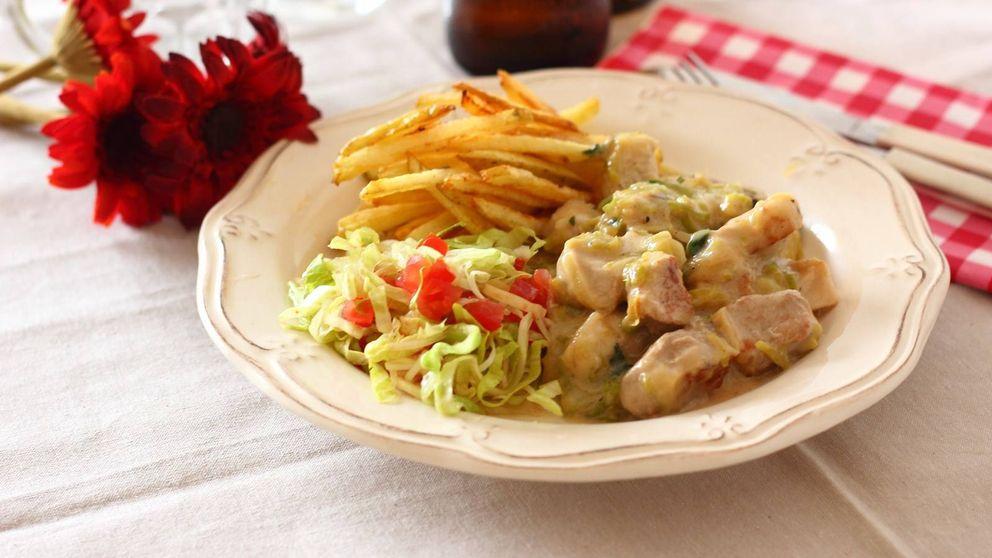Lomo en salsa de puerros: carne y verdura para saciar el apetito