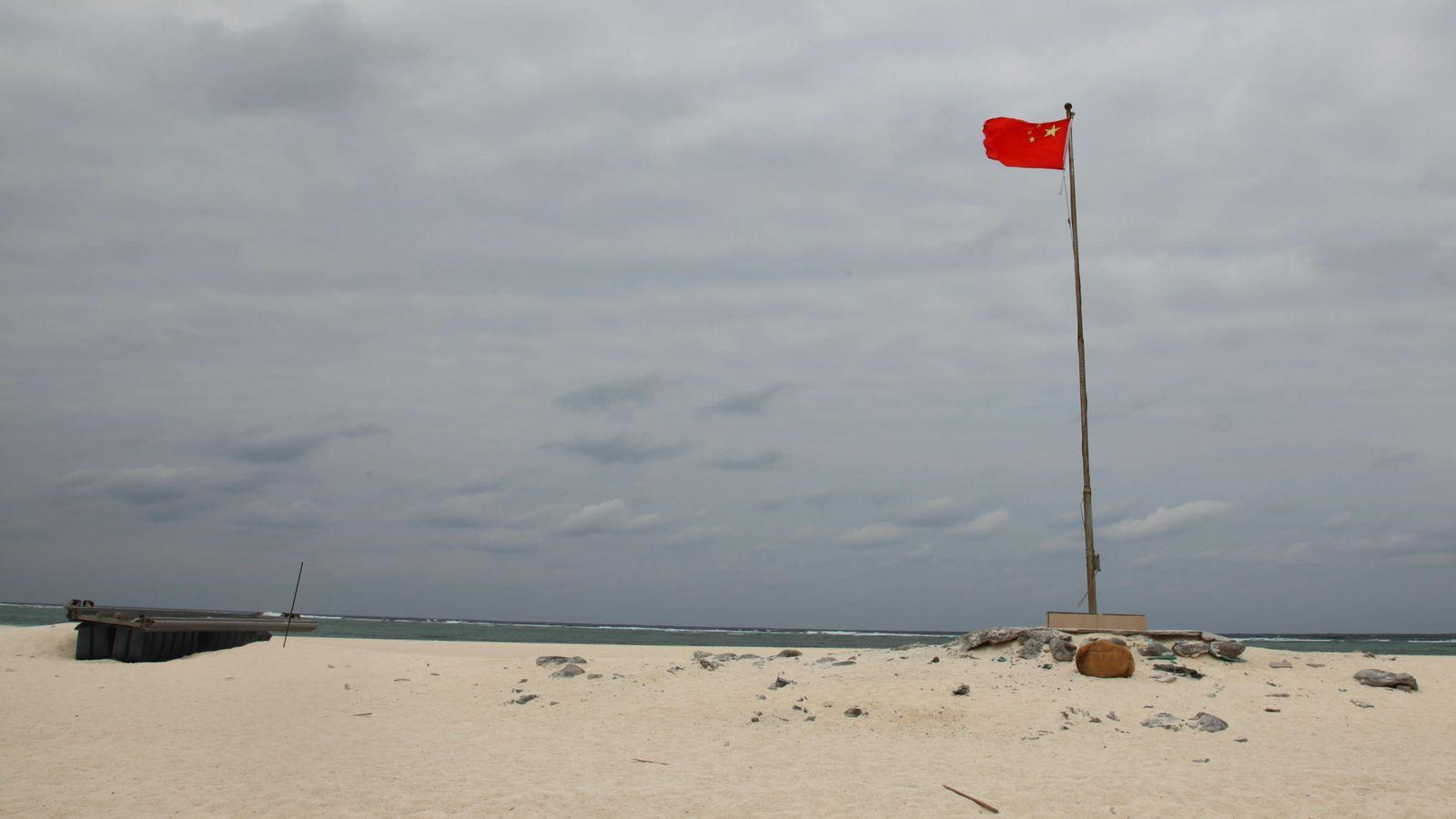 Foto: Bandera china en Quanfu Dao (Foto: J. Ibáñez)