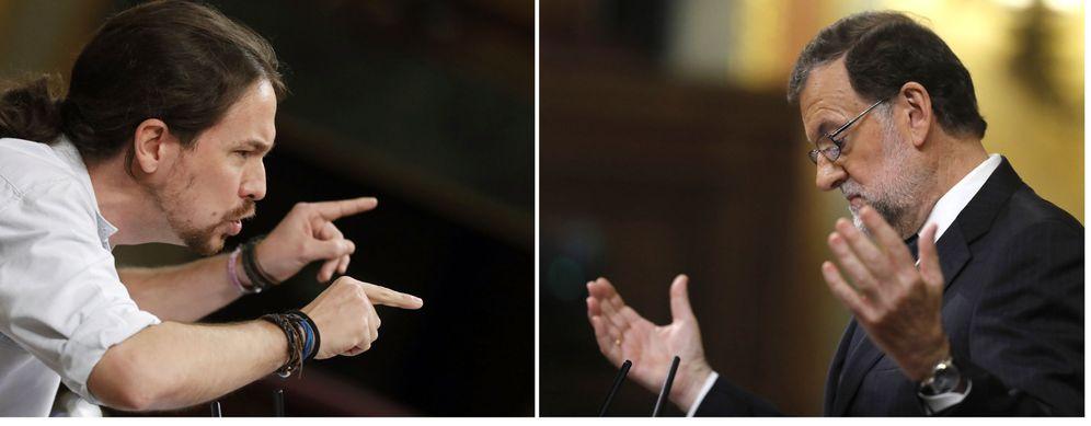 Foto: Pablo Iglesias y Mariano Rajoy en el Congreso. (Efe)