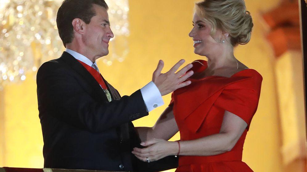 Foto: Peña Nieto junto a su aún esposa, Angélica Rivera. (Getty)