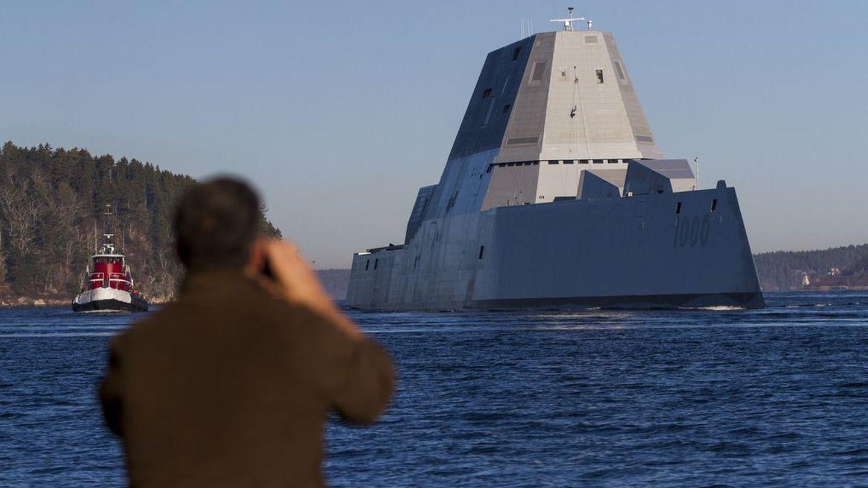 El nuevo destructor de EEUU, USS Zumwalt. (US Navy)