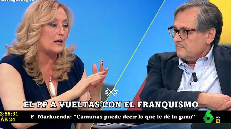 Elisa Beni y Francisco Marhuenda, en 'La Sexta Noche'. (Atresmedia)