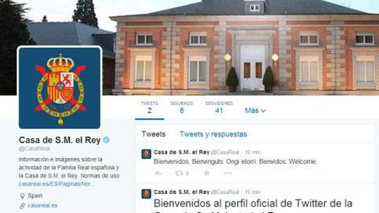 Los primeros tuits de la Casa Real.