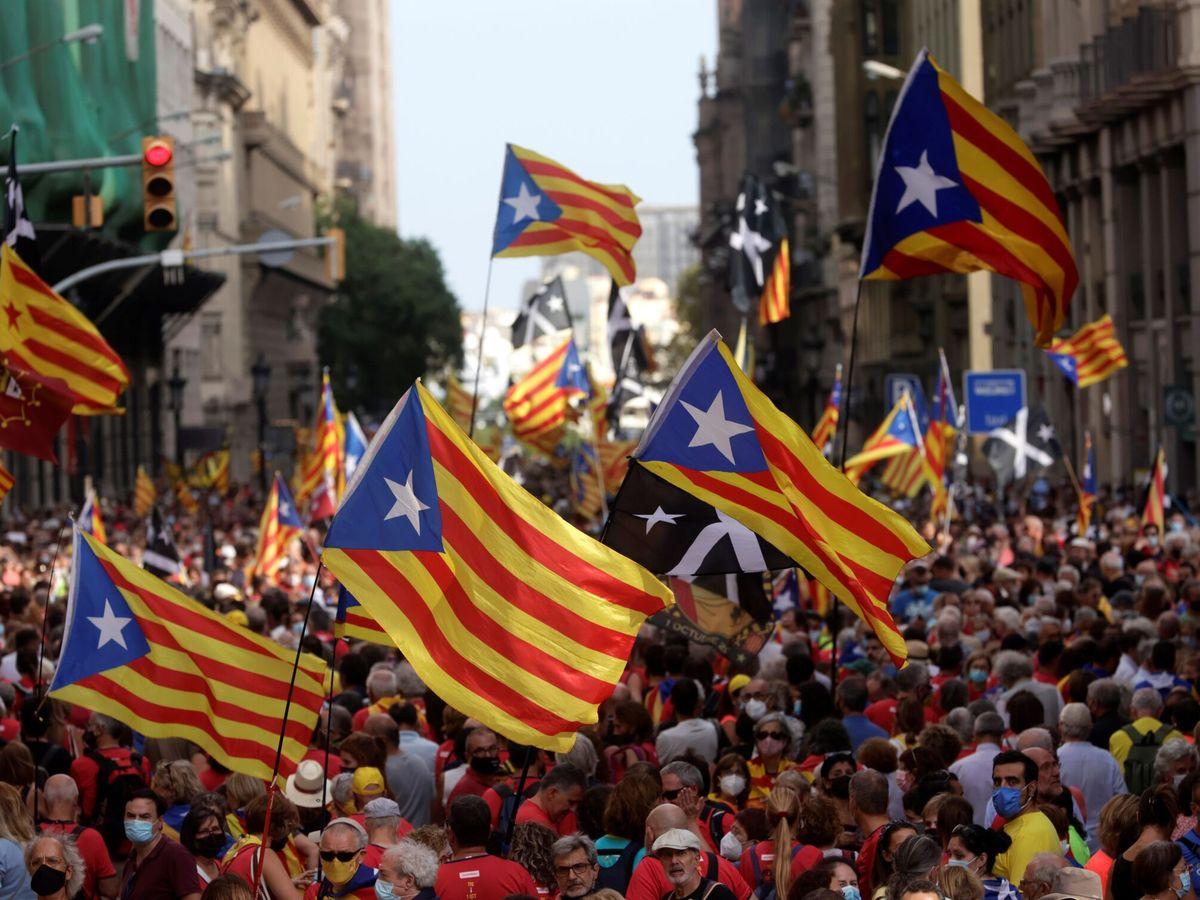 Foto: Manifestación de ANC por la Diada en Barcelona. (EFE)