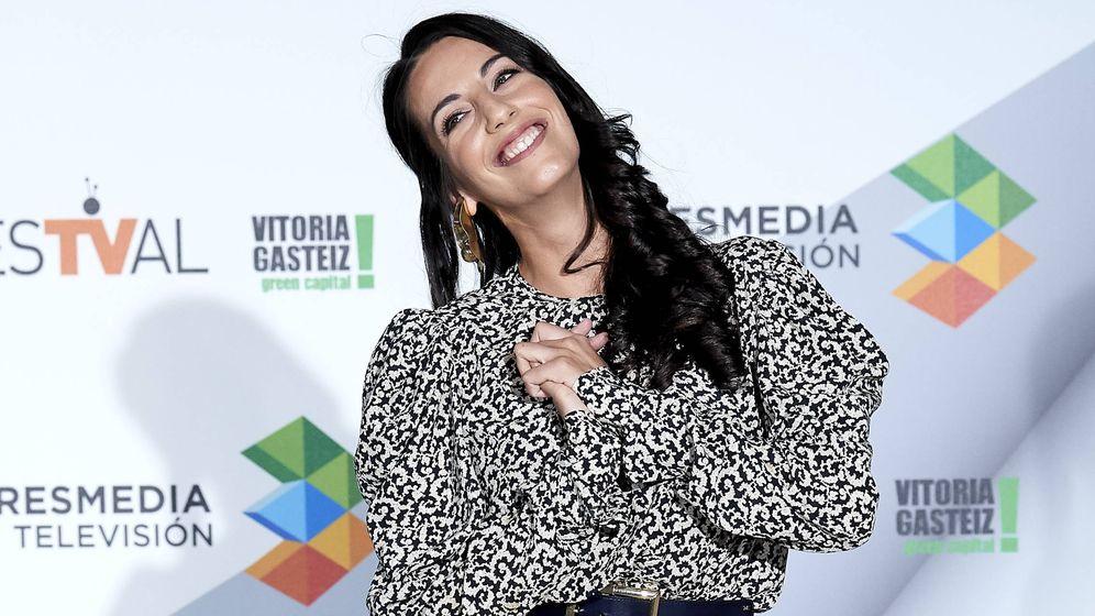 Foto: Almudena Cid, feliz. (Getty)