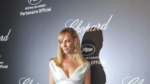 Uma Thurman luce tripita en Cannes, ¿los excesos o un posible embarazo?