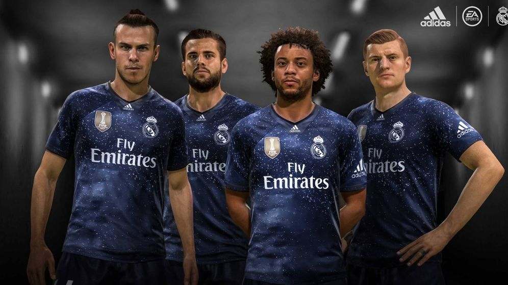 Foto: La cuarta camiseta del Real Madrid inspirada en los 'galácticos'. (foto vía @realmadrid)