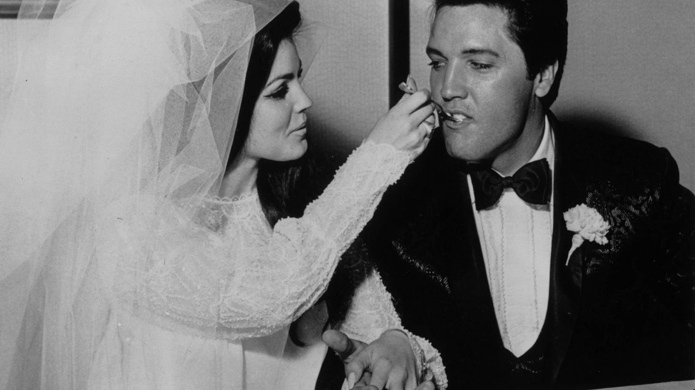 La boda de Elvis y Priscilla Presley en Las Vegas. (Getty)