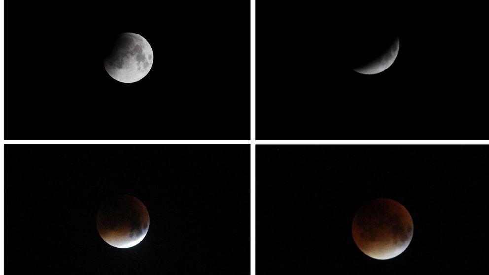 Las mejores imágenes del eclipse y la última superluna de sangre hasta 2033