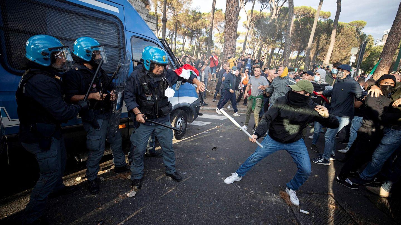 Protestas en Roma, Italia. (EFE)