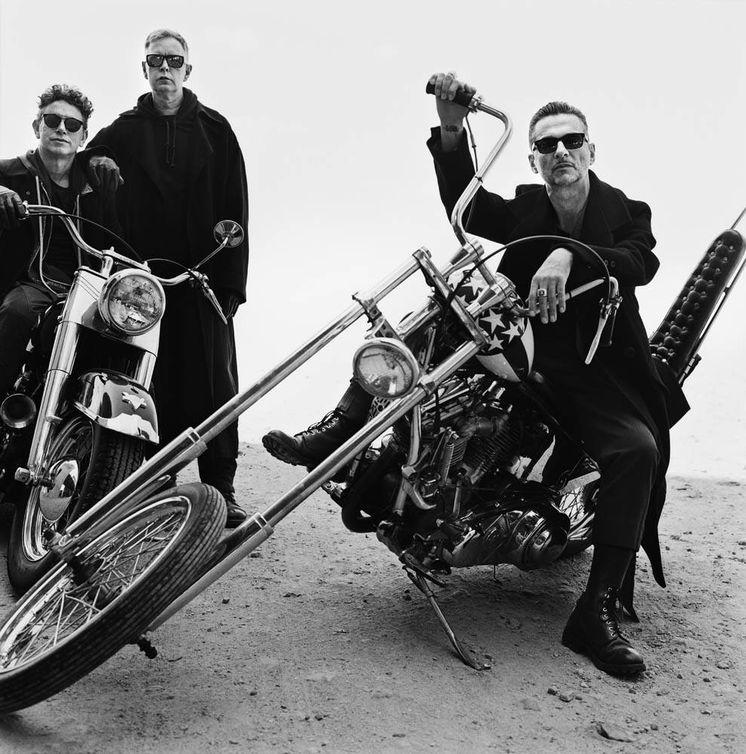 Foto: Martin Gore, Andrew Fletcher y David Gahan en una imagen promocional de Depeche Mode   Anton Corbijn
