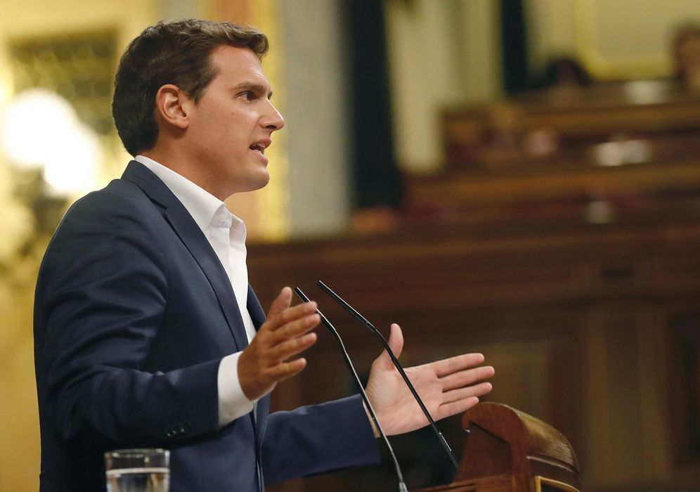Foto: Albert Rivera, presidente de Ciudadanos, este 18 de septiembre en el Congreso. (EFE)